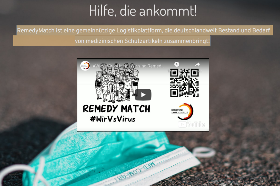 RemedyMatch Website
